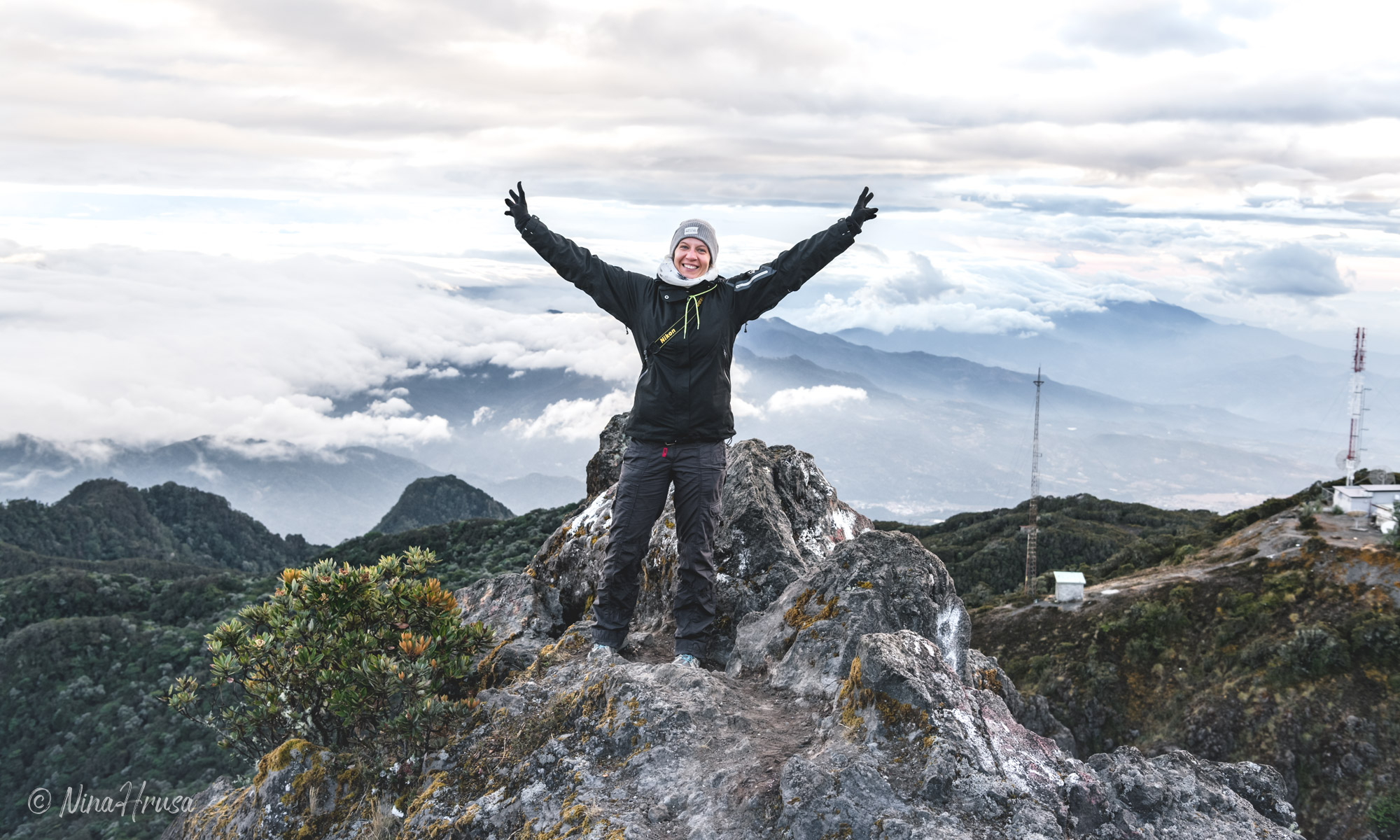 Nina Hrusa on top of Volcan Baru, Panama 2019