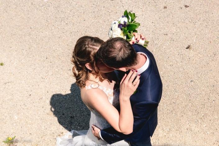 Brautpaar Vogelperspektive, Hochzeitsfoto, Zwischenmomente   Nina Hrusa Photography