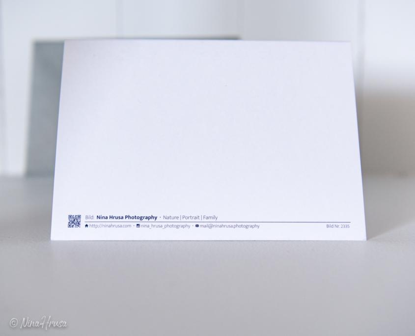 Postkarte Wassertropfen Rückseite, Zwischenmomente | Nina Hrusa Photography