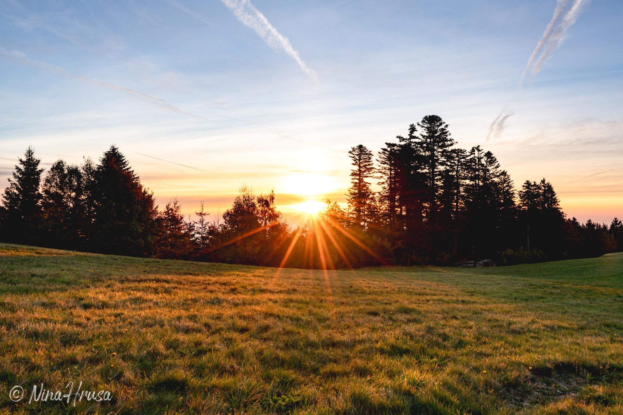 Sonnenaufgang im Spätsommer, Pöllauberg, Oststeiermark, Zwischenmomente | Nina Hrusa Photography