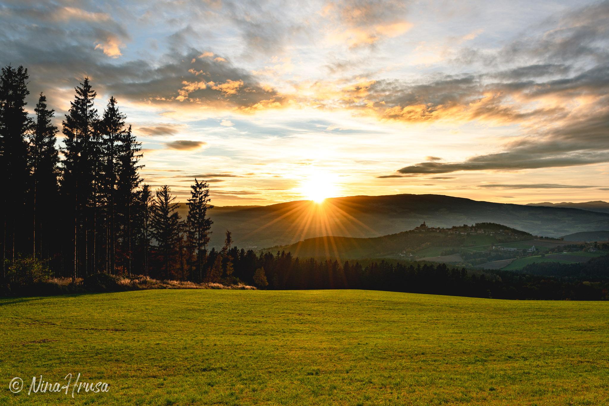 Sonnenuntergang, Pöllauberg, Steiermark, Zwischenmomente | Nina Hrusa Photography